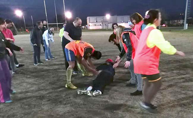 Un'azione del Mixed Ability Rugby